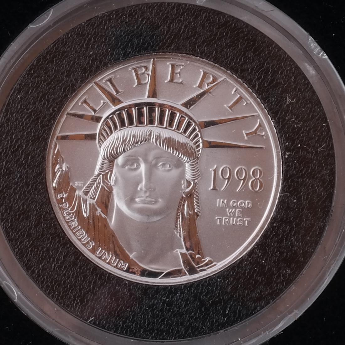 3 Platinum 1/4-Oz. Coins, '98, '00, '02 - 2