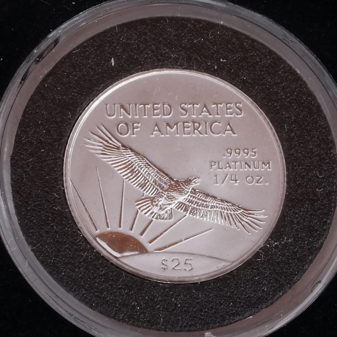 3 Platinum 1/4-Oz. Coins, '98, '00, '02 - 3