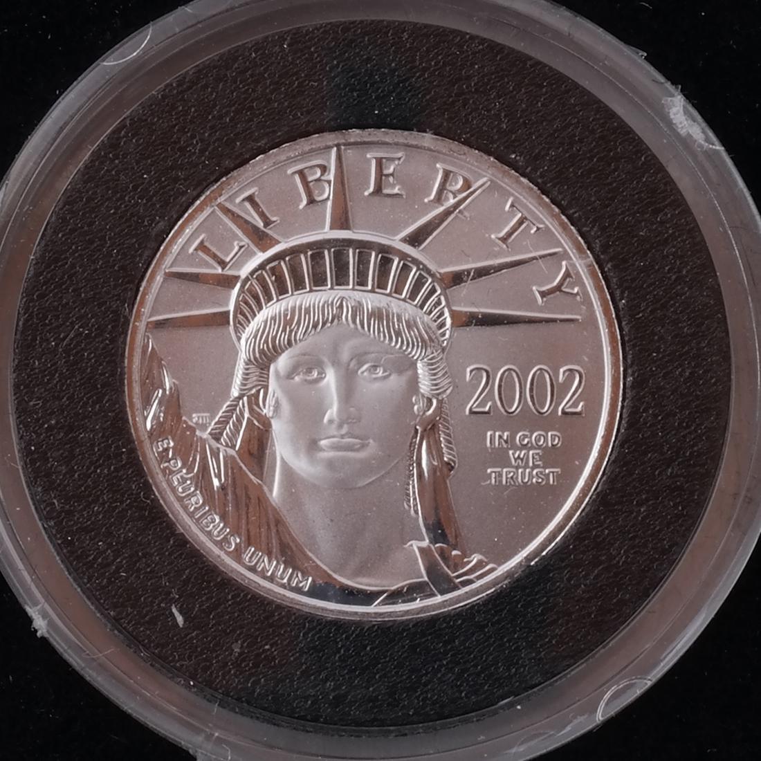 3 Platinum 1/4-Oz. Coins, '98, '00, '02 - 4