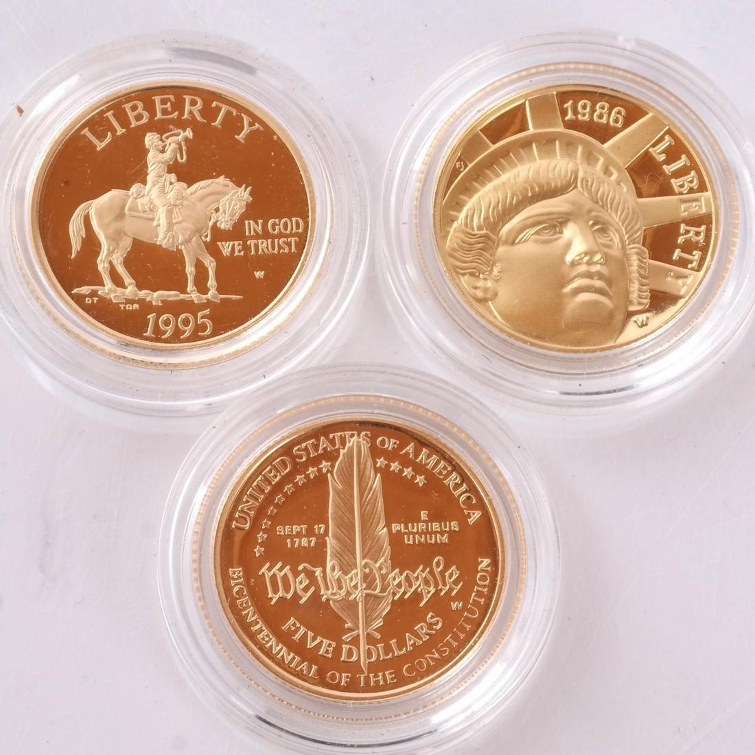 Three $5 Gold Commemoratives