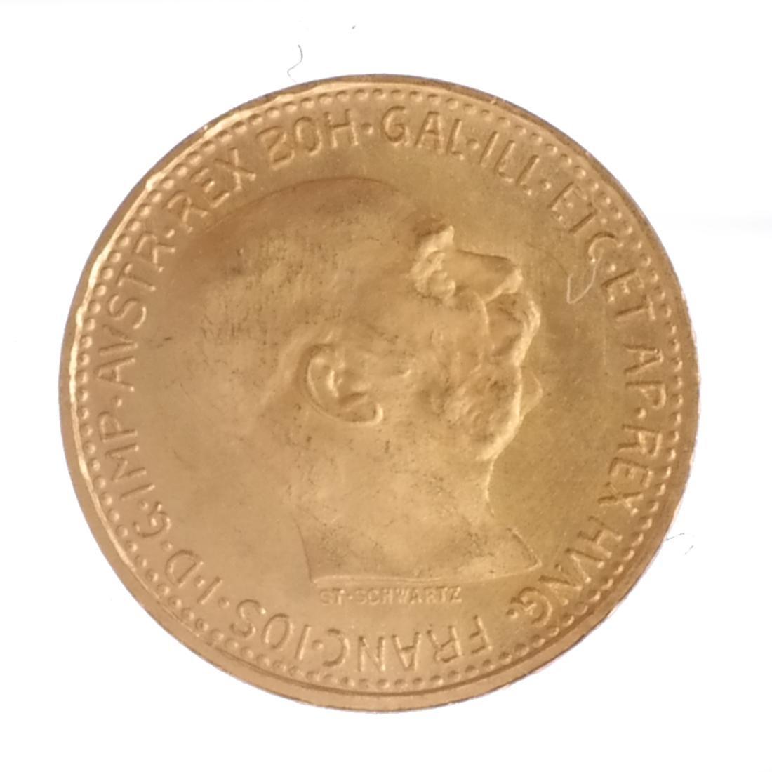 2 Gold, 10 Corona Austria, 1 Australia - 4