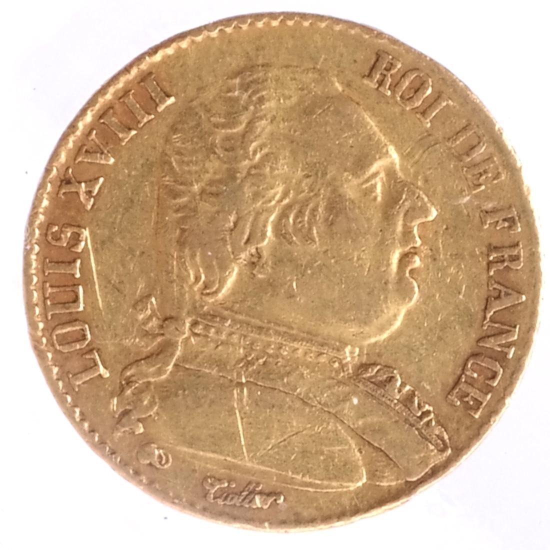 1814-A 20 Francs, France, Louis XVIII