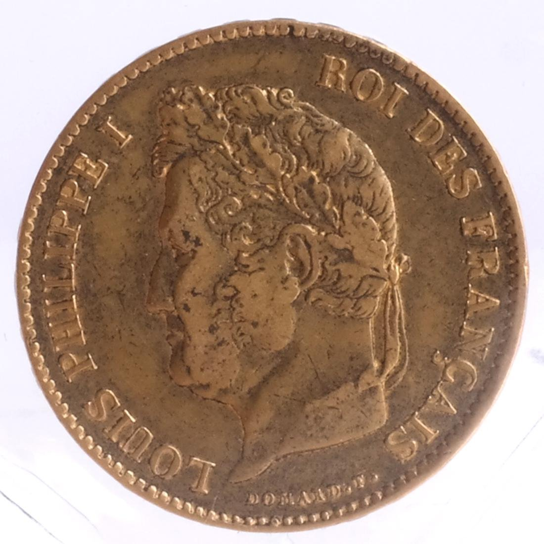 1856 40 Francs, Louis Philippe I, Gold