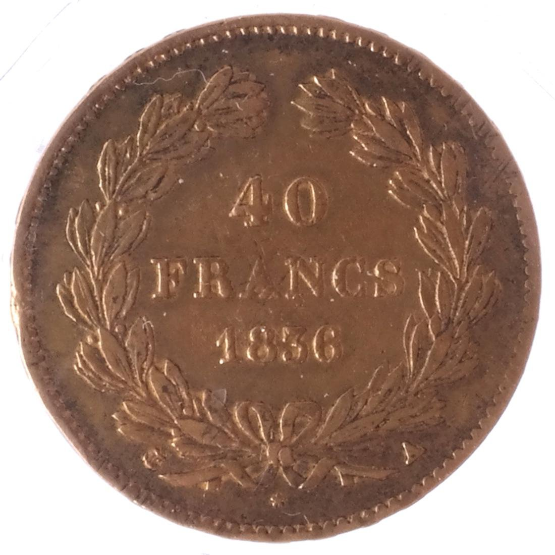 1856 40 Francs, Louis Philippe I, Gold - 2