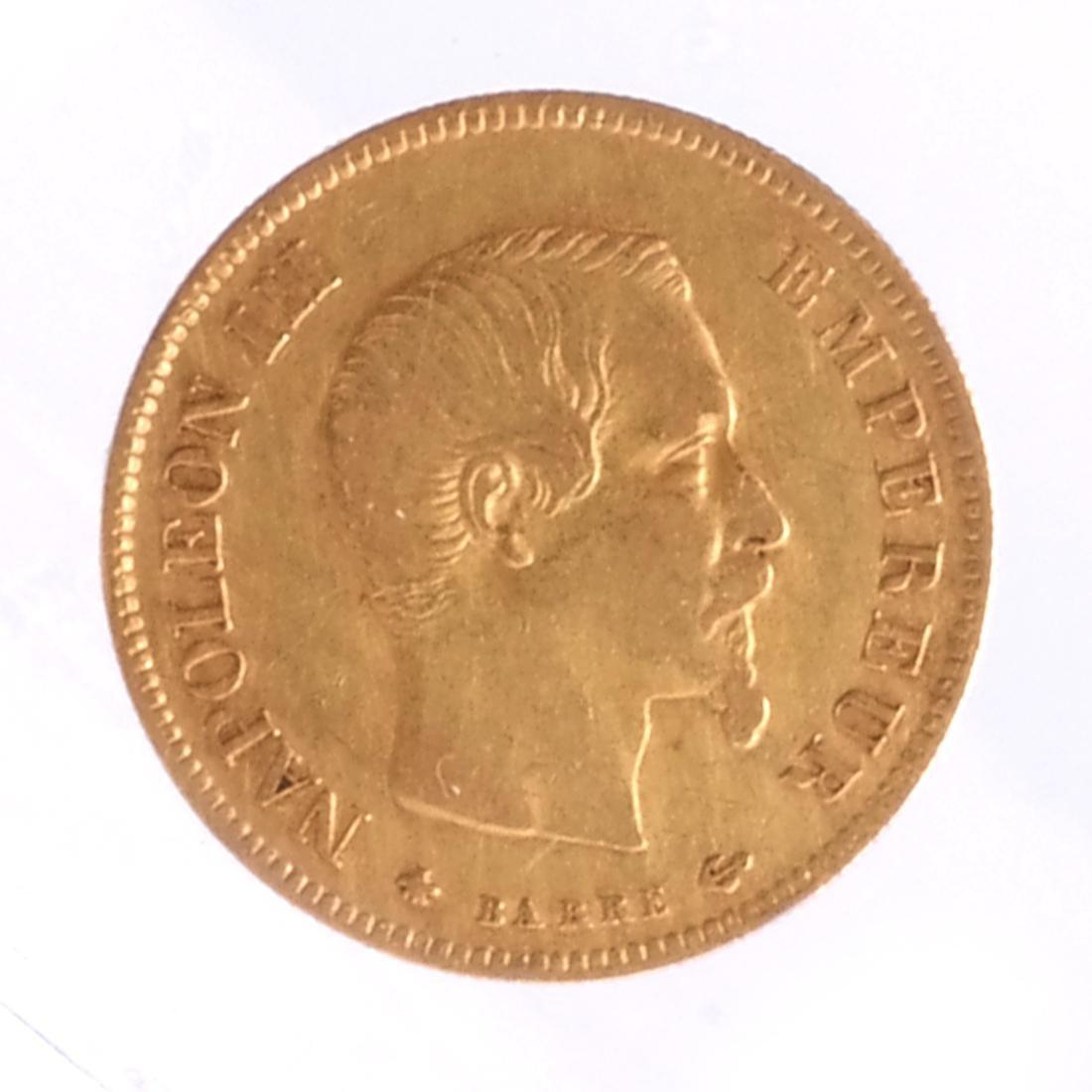 1858 10 Francs, France, Gold.