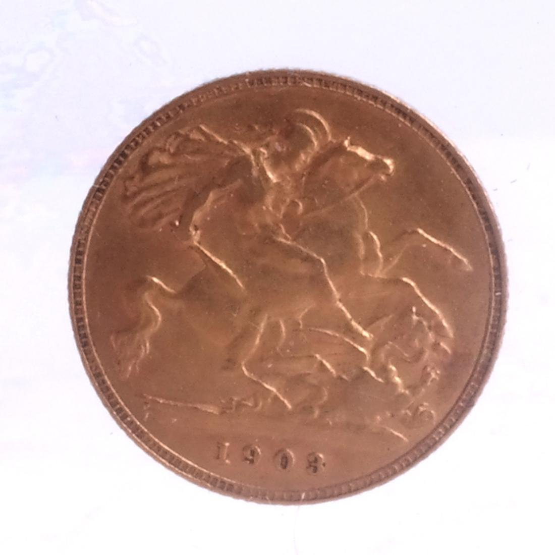 1902 Great Britain 1/2 Sovereign, Gold - 2