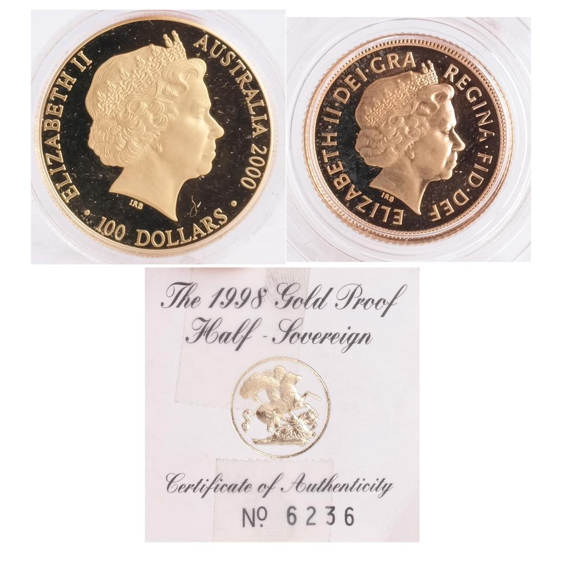 1998 1/2 Sovereign, Australian $100