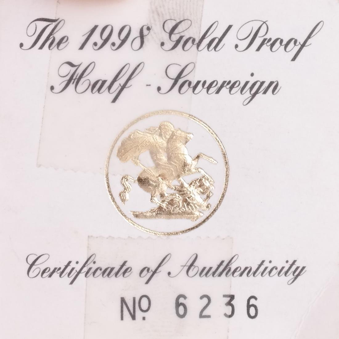 1998 1/2 Sovereign, Australian $100 - 2