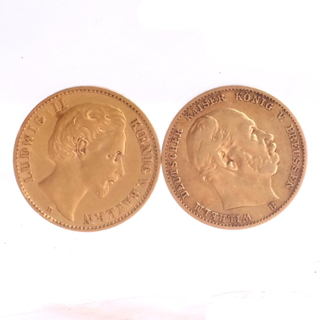Two 10-Marks Gold, 1877, 1879
