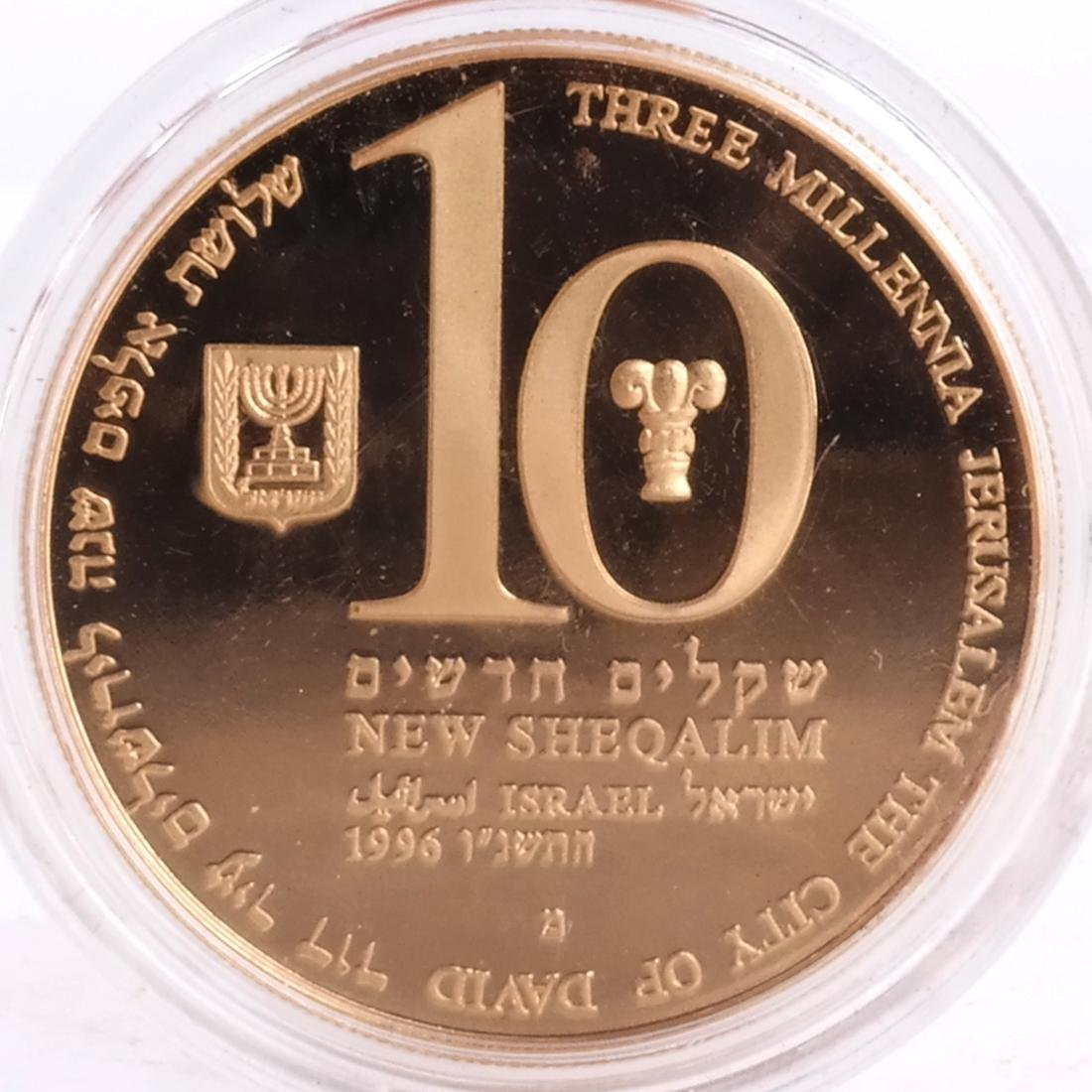 1996 Israel Gold 10 Proof - 2