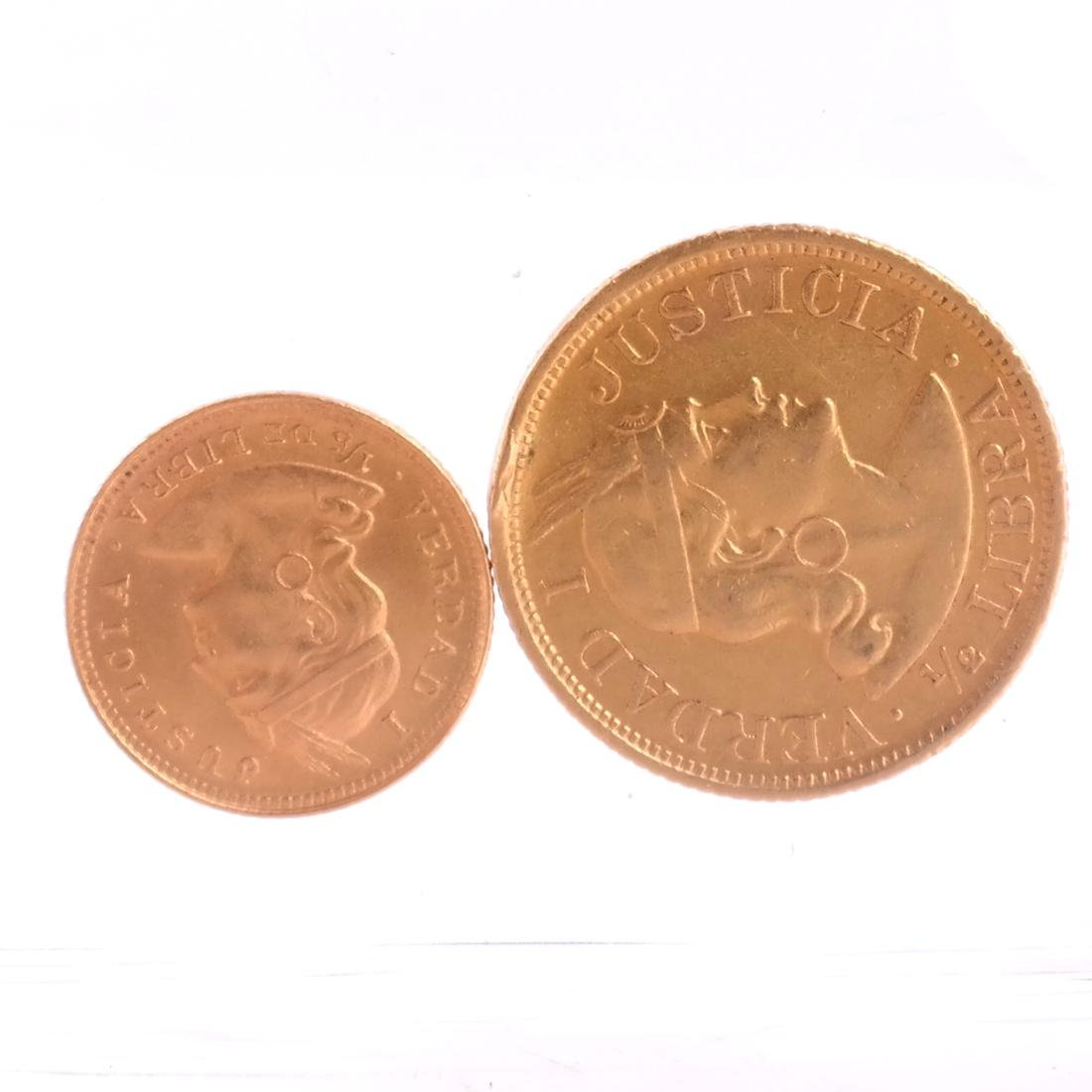 2 Lima Gold Coins, 1907 & 1917
