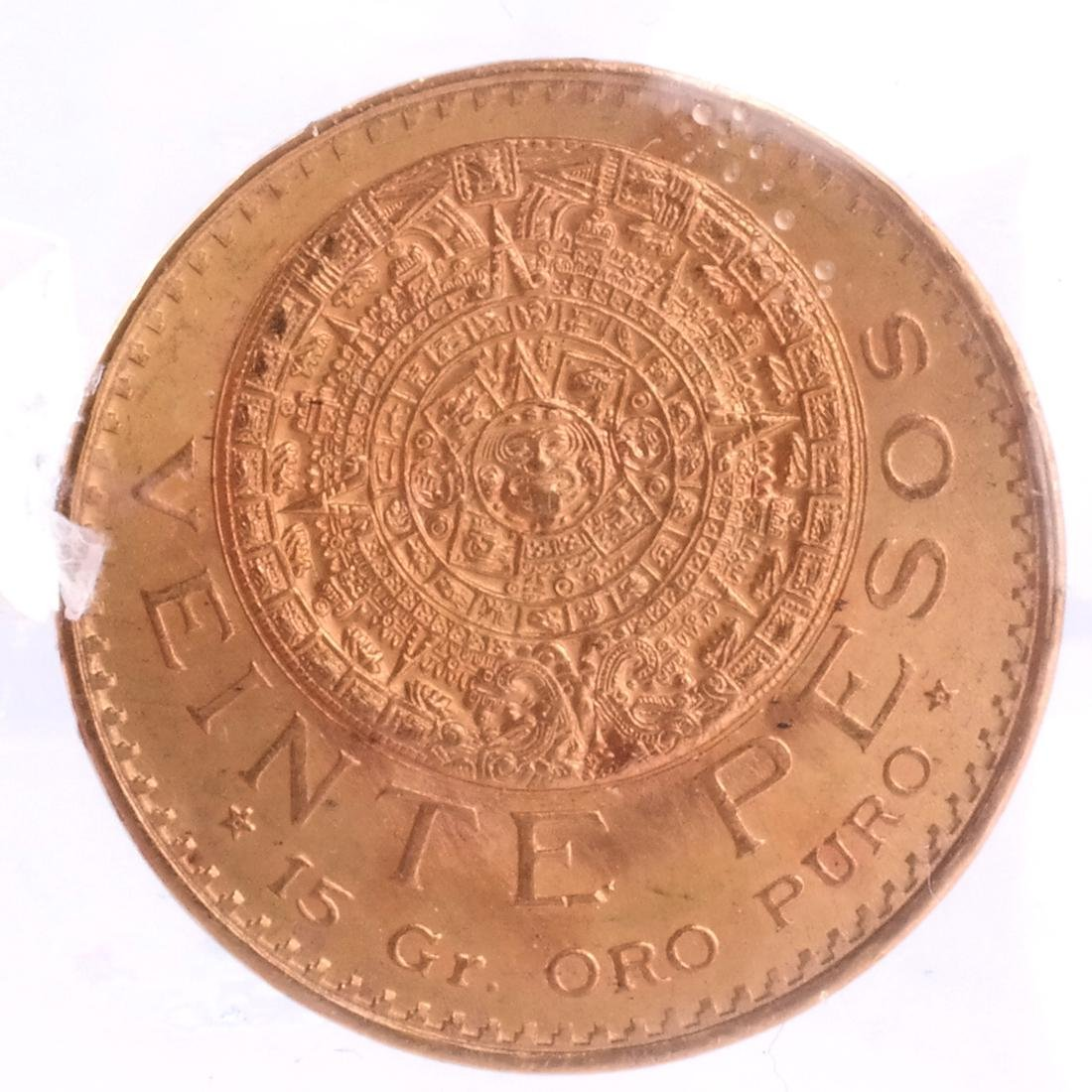 1959 Mexico Veinte Pesos Gold Coin