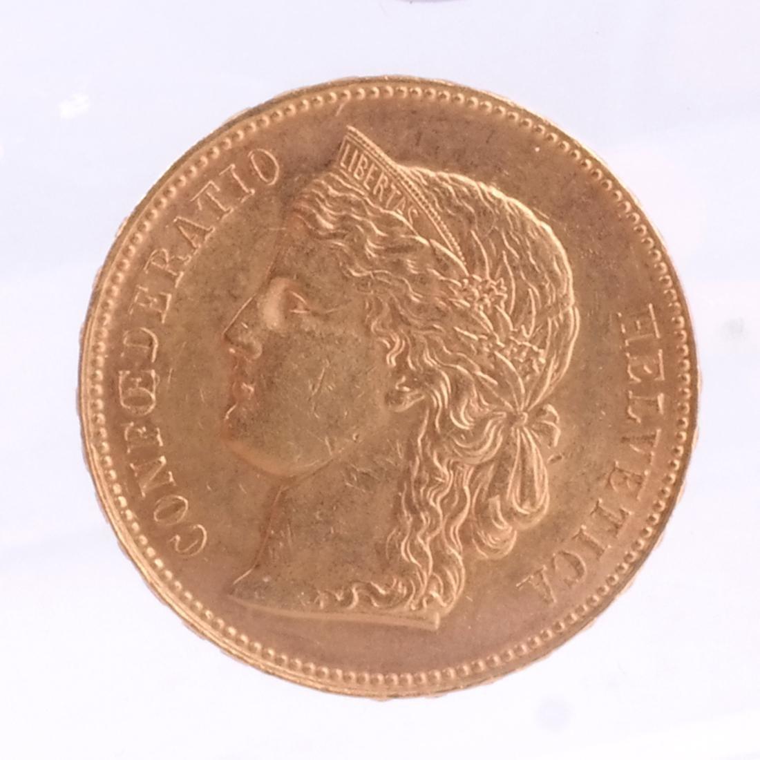 1896-B 20 Francs Swiss Gold