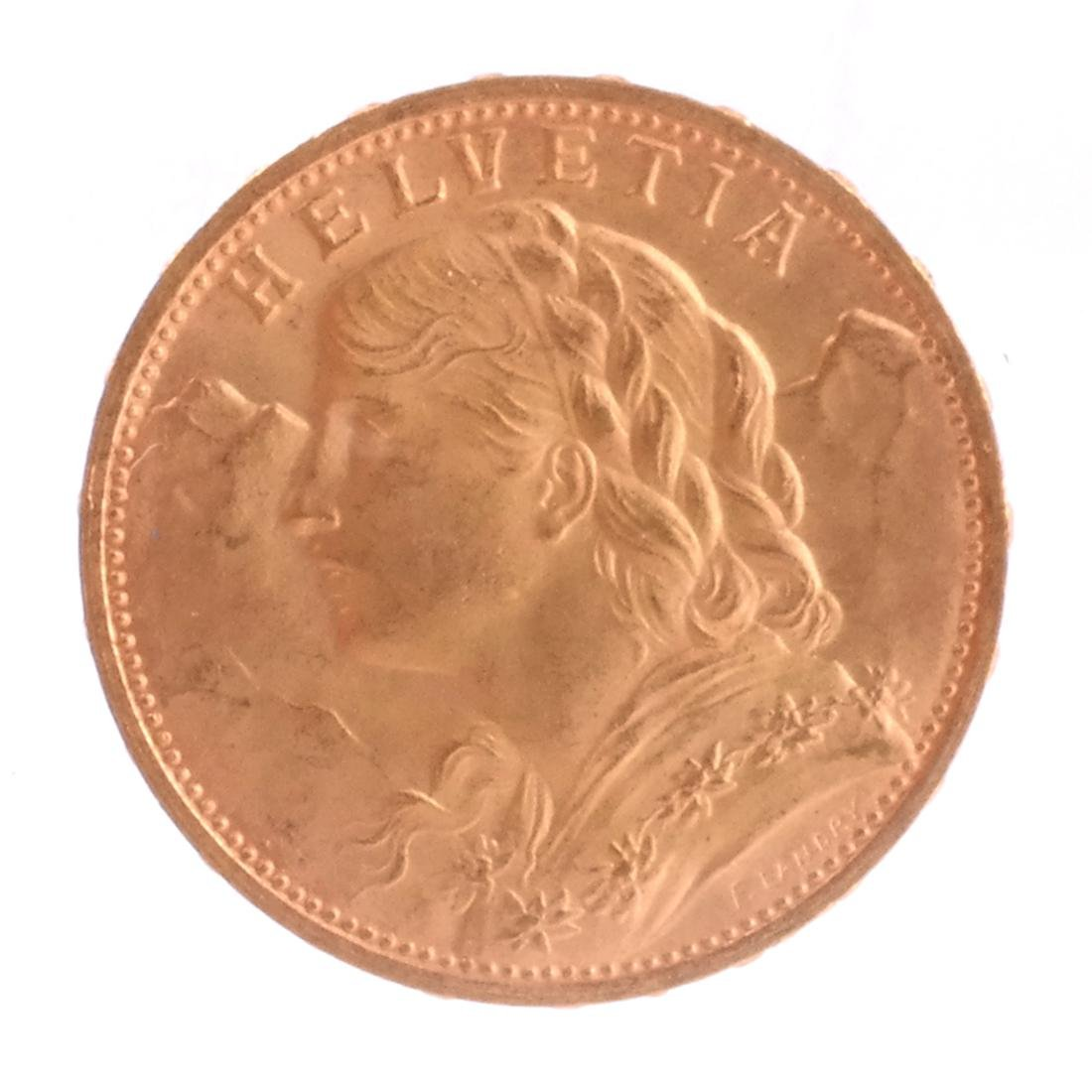 1927-B 20 Francs Swiss Gold