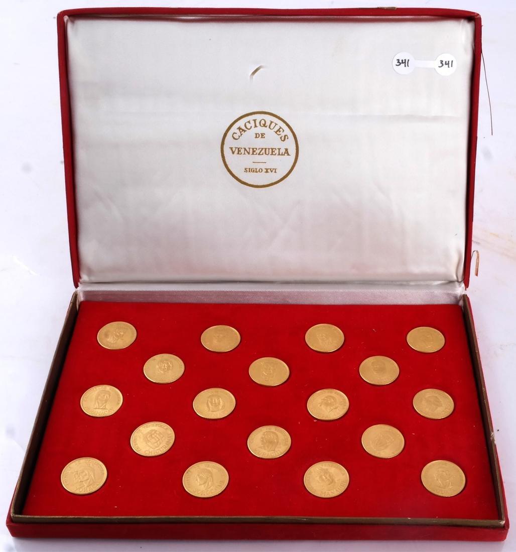Venezuela Gold Set, 18 Coins, 1957