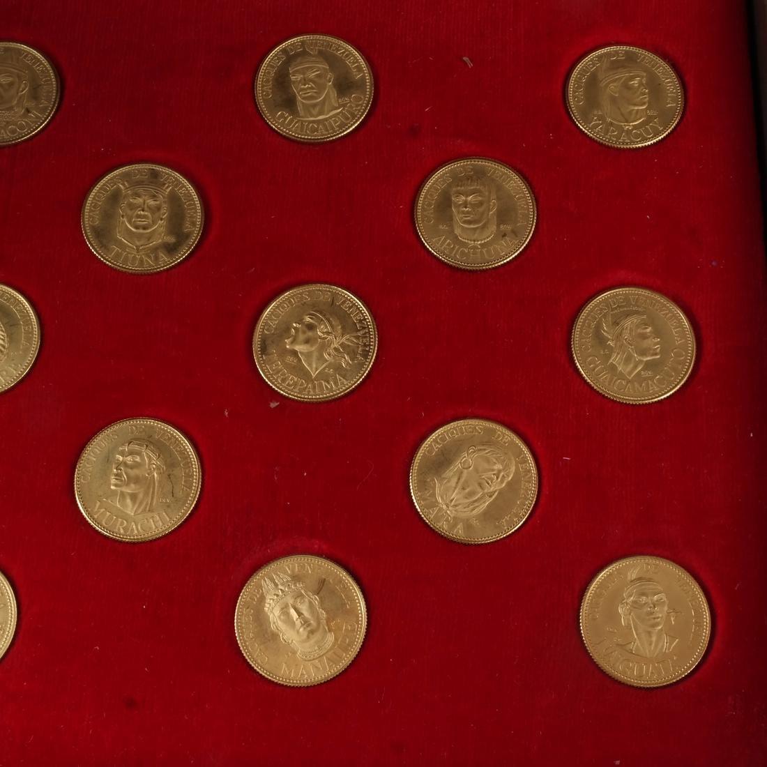 Venezuela Gold Set, 18 Coins, 1957 - 2