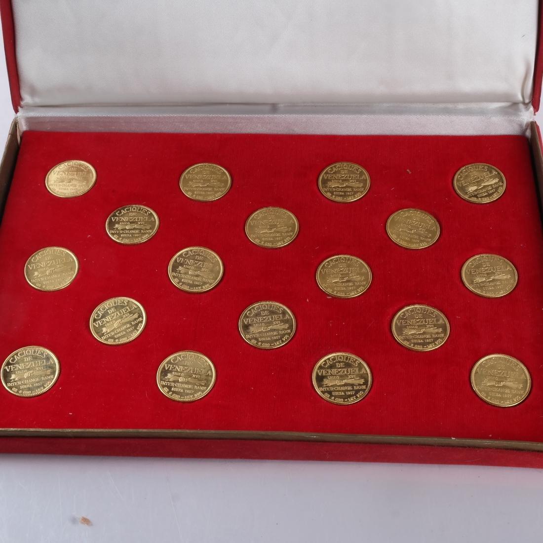 Venezuela Gold Set, 18 Coins, 1957 - 4