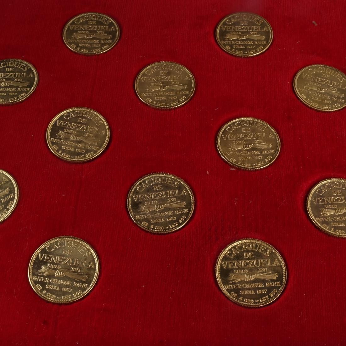 Venezuela Gold Set, 18 Coins, 1957 - 5