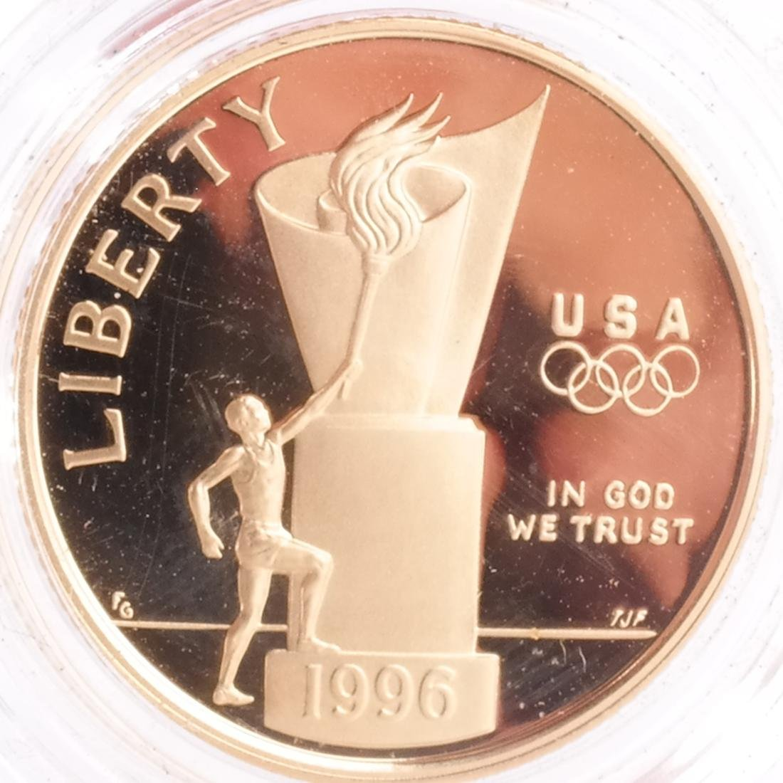 1995 $5 Olympic Proof, 5 Gold Coins - 8
