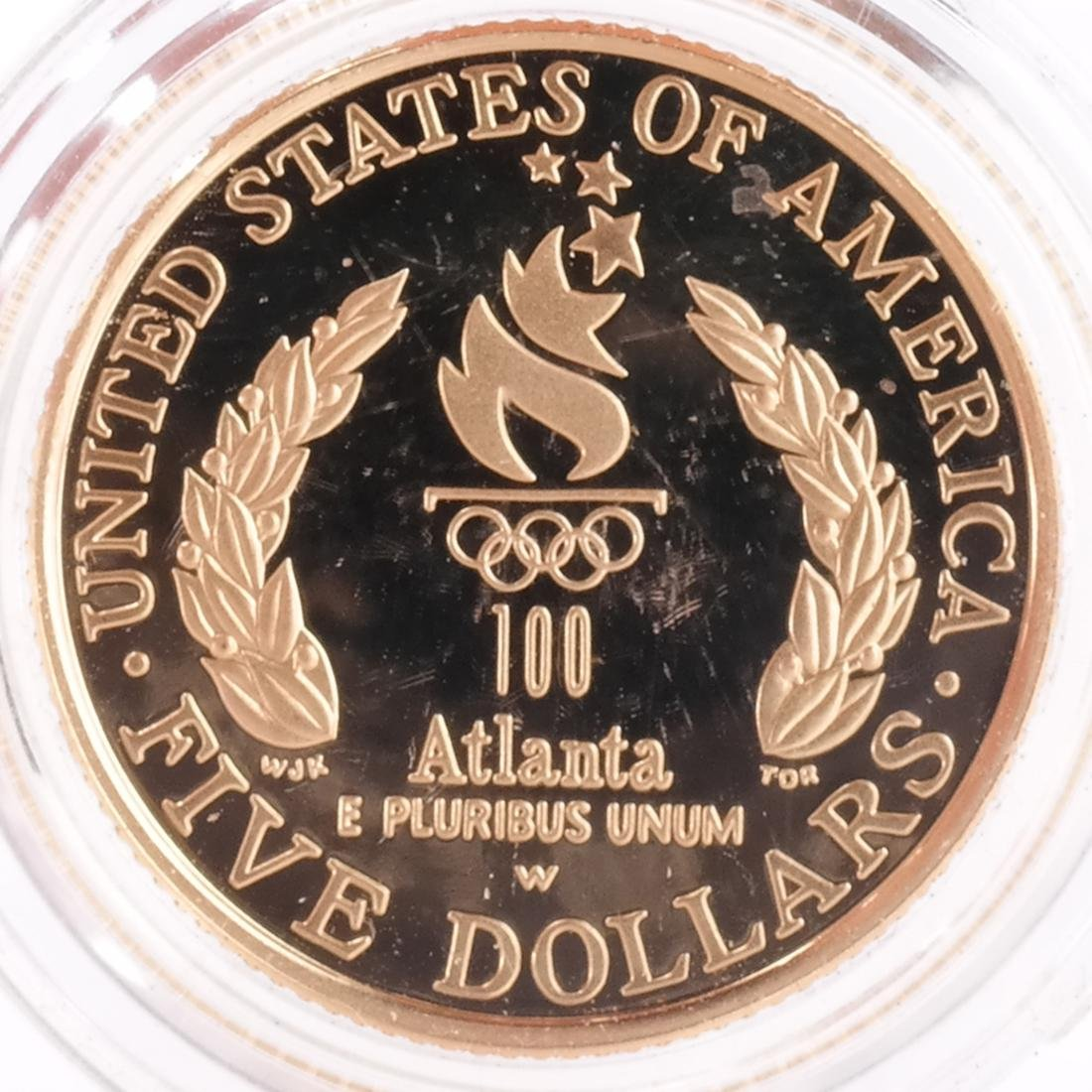 1995 $5 Olympic Proof, 5 Gold Coins - 9