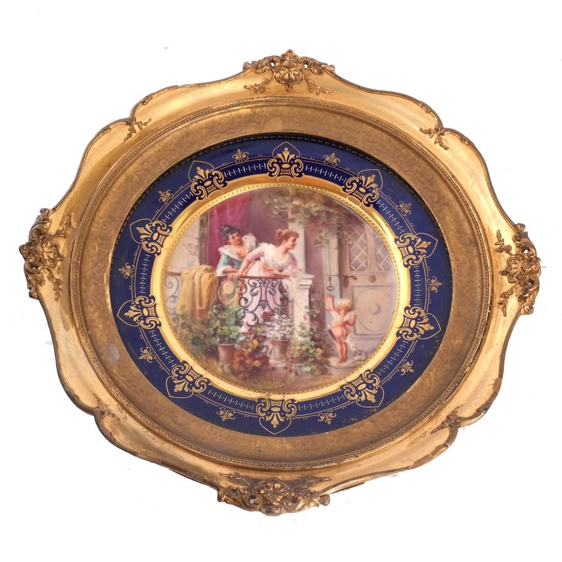 Vienna-Style Porcelain Cabinet Plate