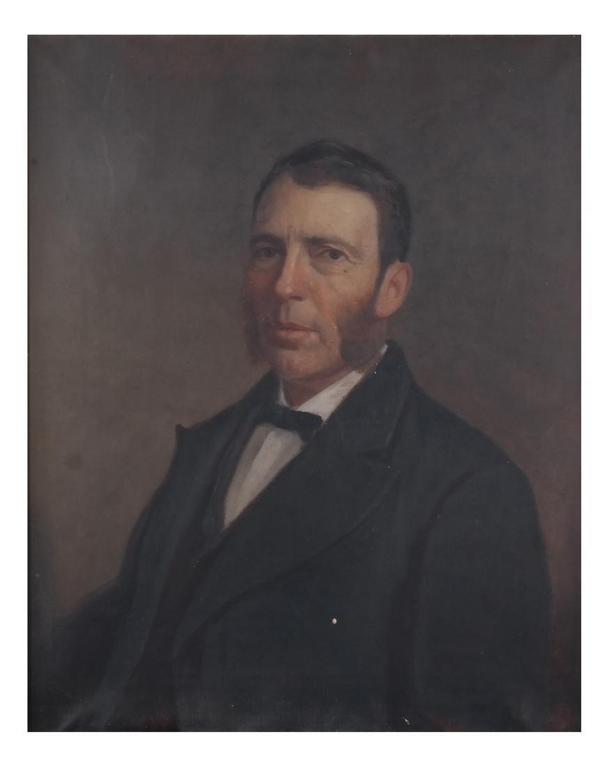 Antique Male Portrait, Oil on Canvas
