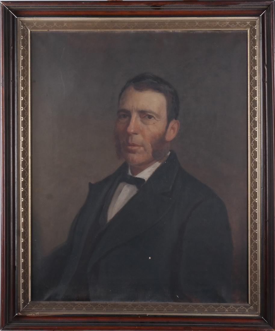 Antique Male Portrait, Oil on Canvas - 2