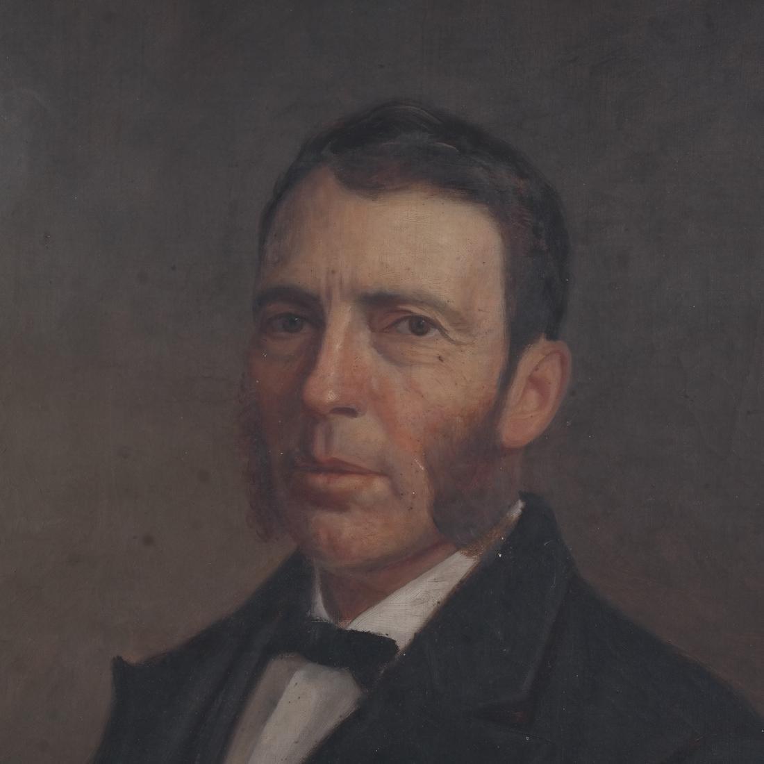 Antique Male Portrait, Oil on Canvas - 3