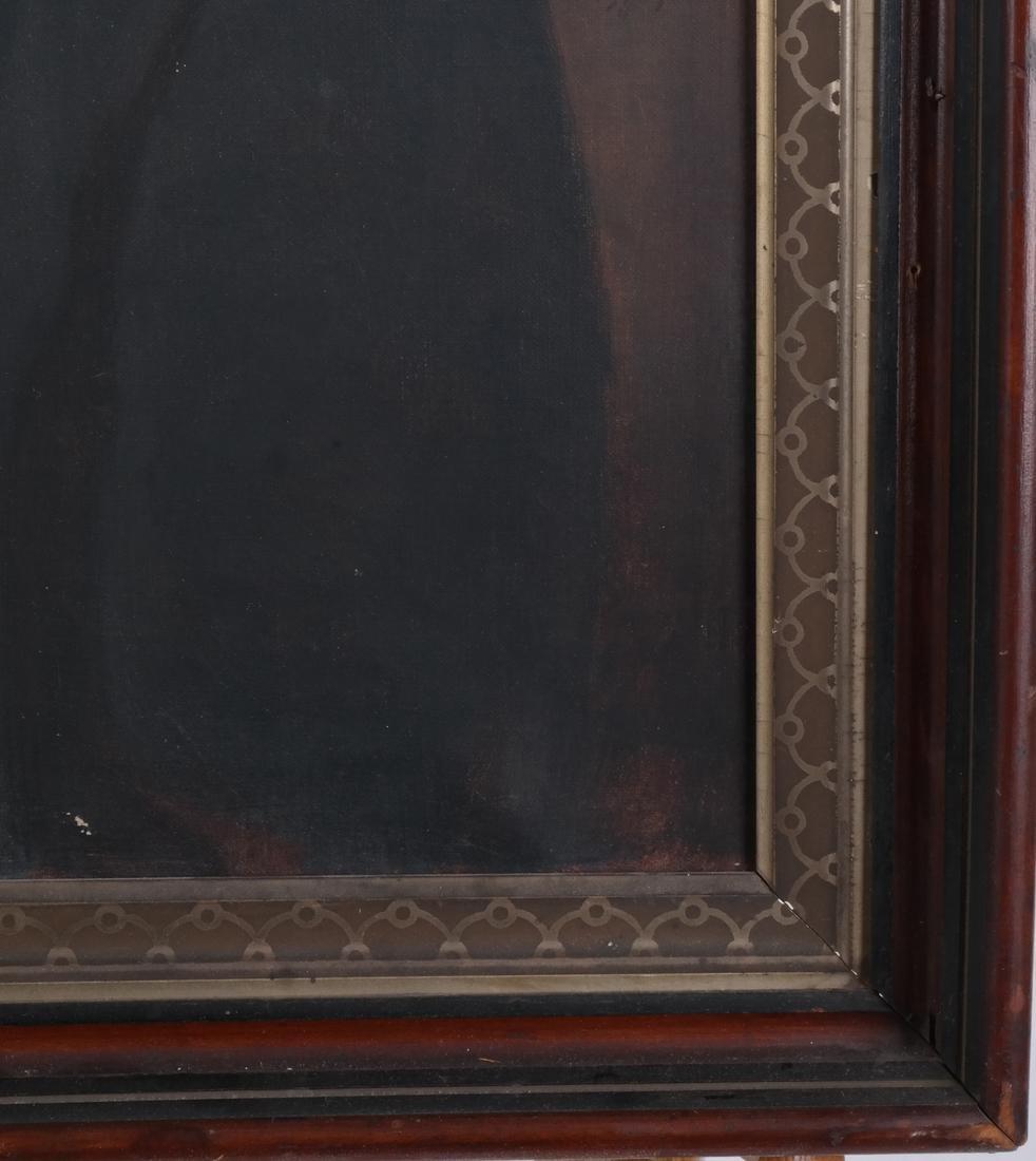 Antique Male Portrait, Oil on Canvas - 4