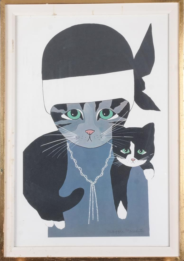 Maggie Meredith: Two Cats, Watercolor - 2