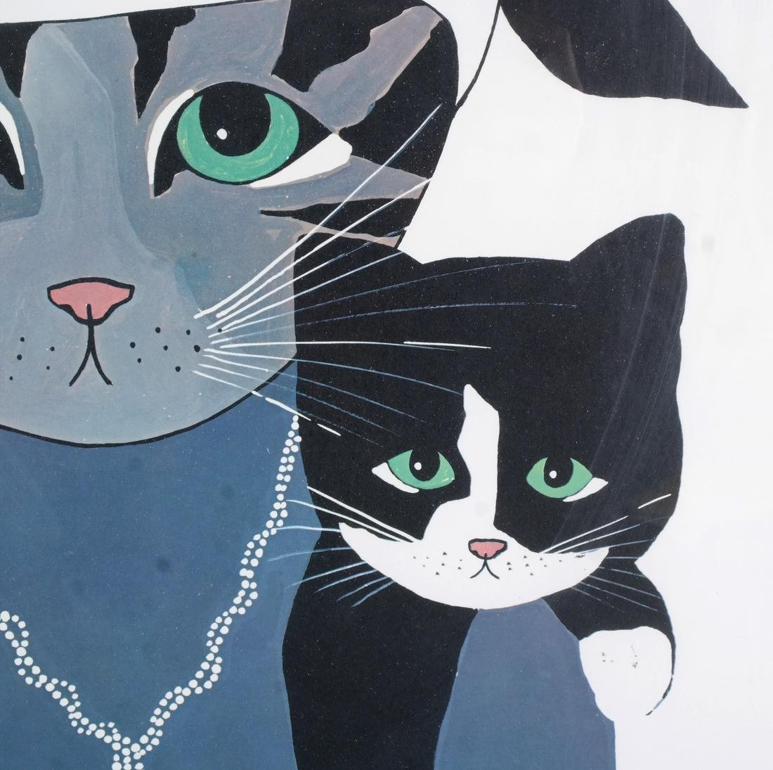 Maggie Meredith: Two Cats, Watercolor - 4