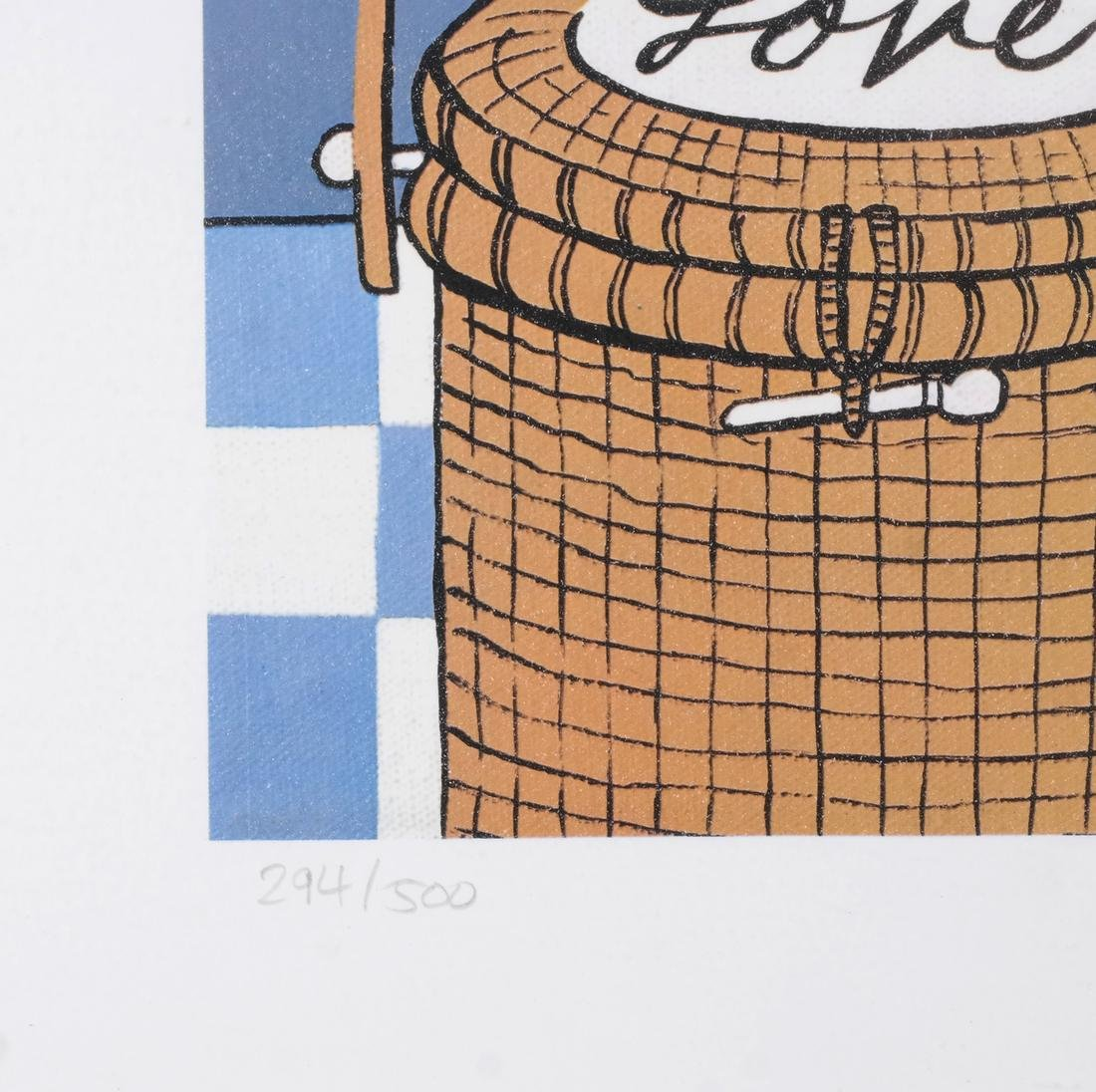 Maggie Meredith: Cat and Wine, Lithograph - 3