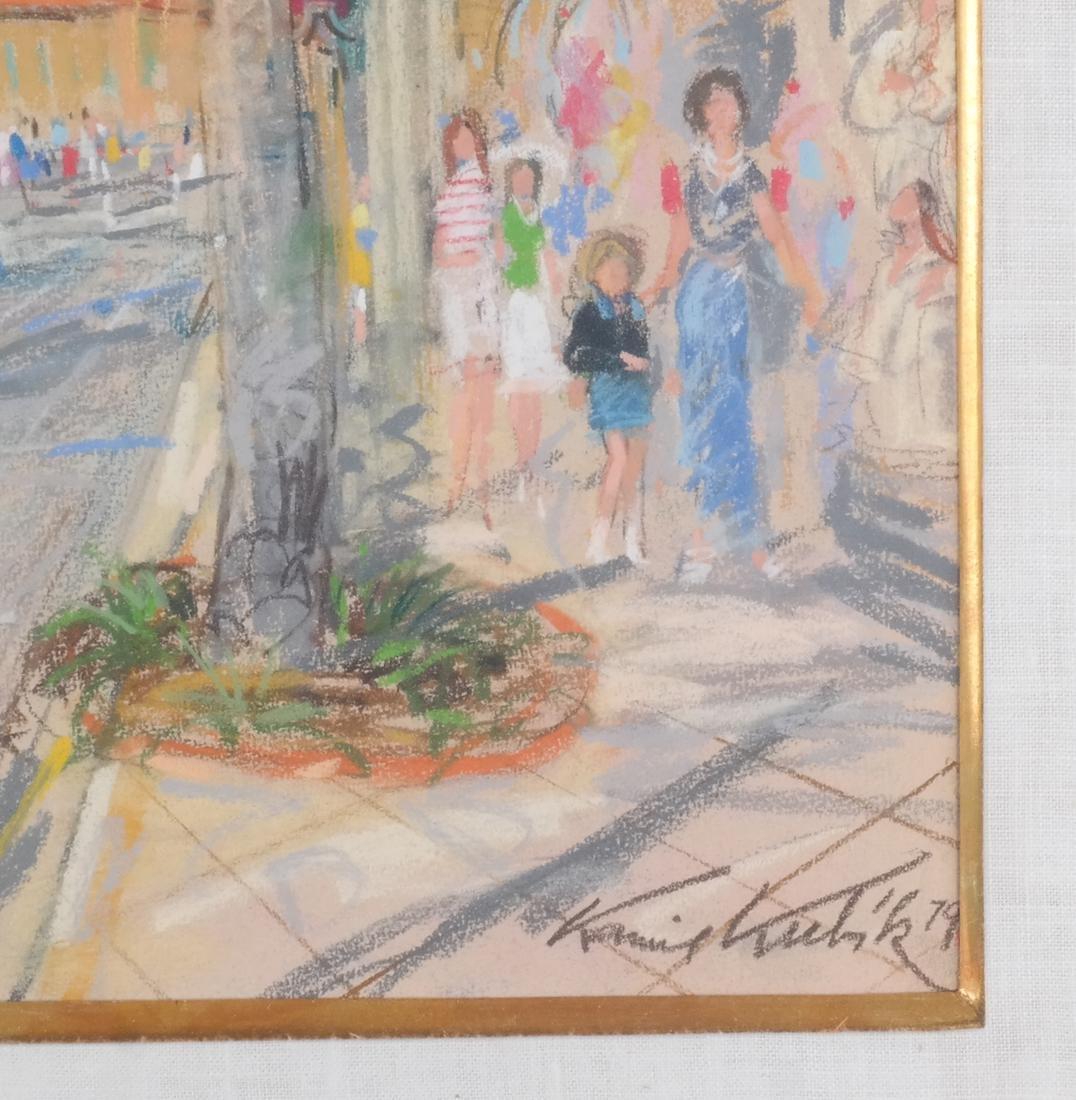 Kamil Kubik: Street Scene, Pastel - 3