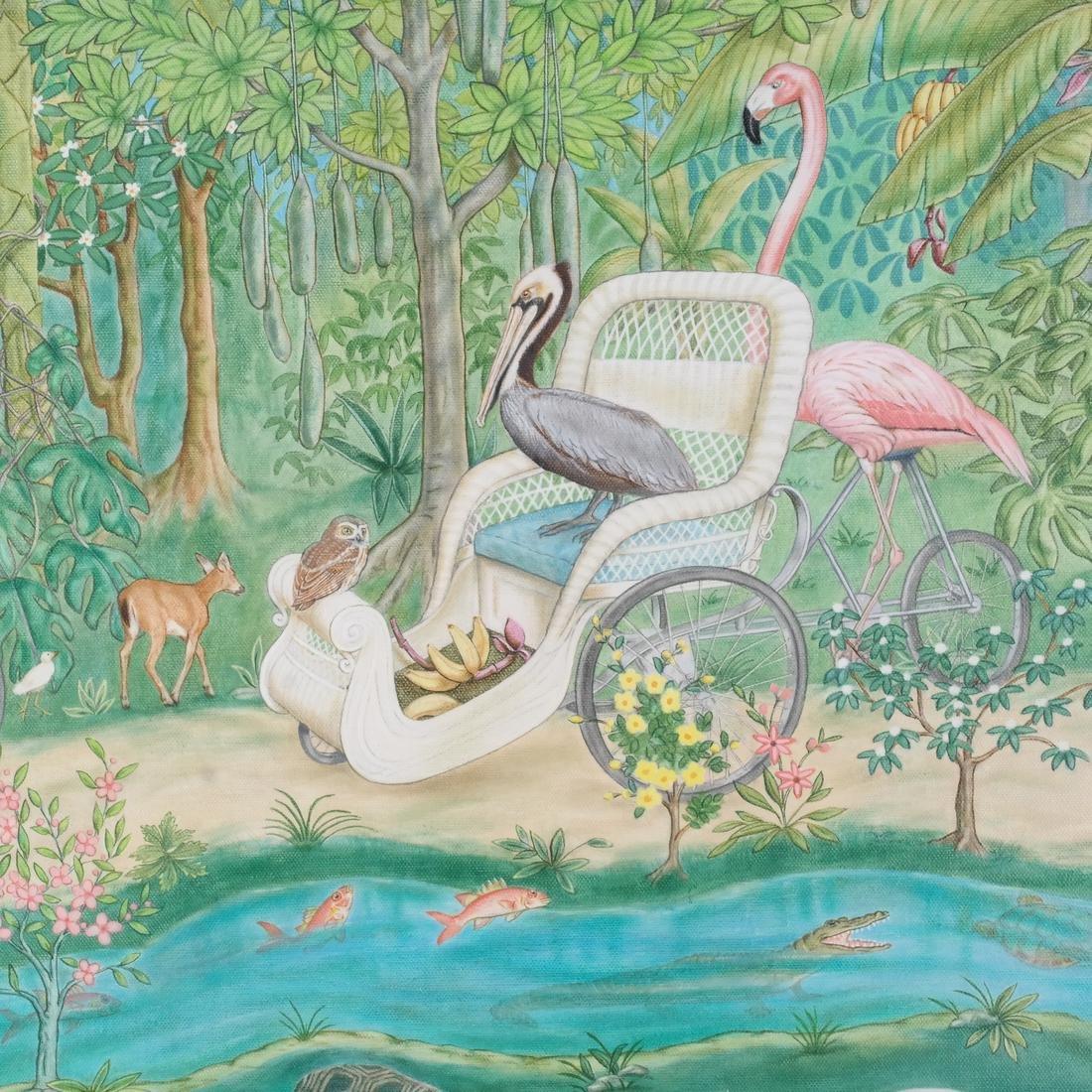Jane Taylor: Island Flamingos, Oil on Canvas - 3