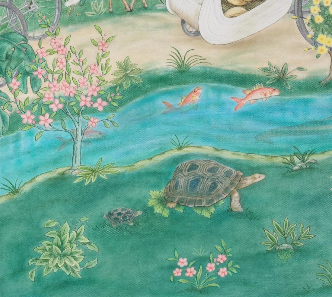 Jane Taylor: Island Flamingos, Oil on Canvas - 4