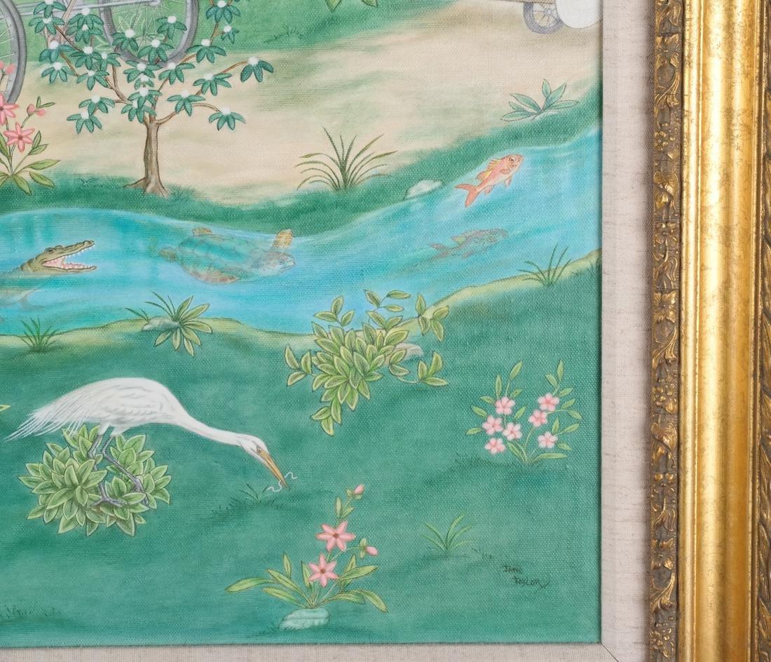 Jane Taylor: Island Flamingos, Oil on Canvas - 5