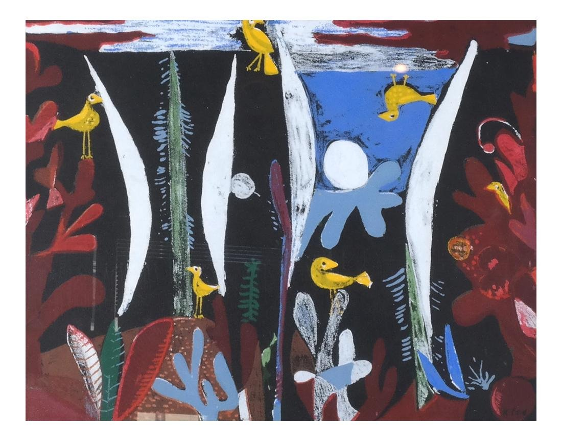 Paul Klee: Birds, Abstract Lithograph