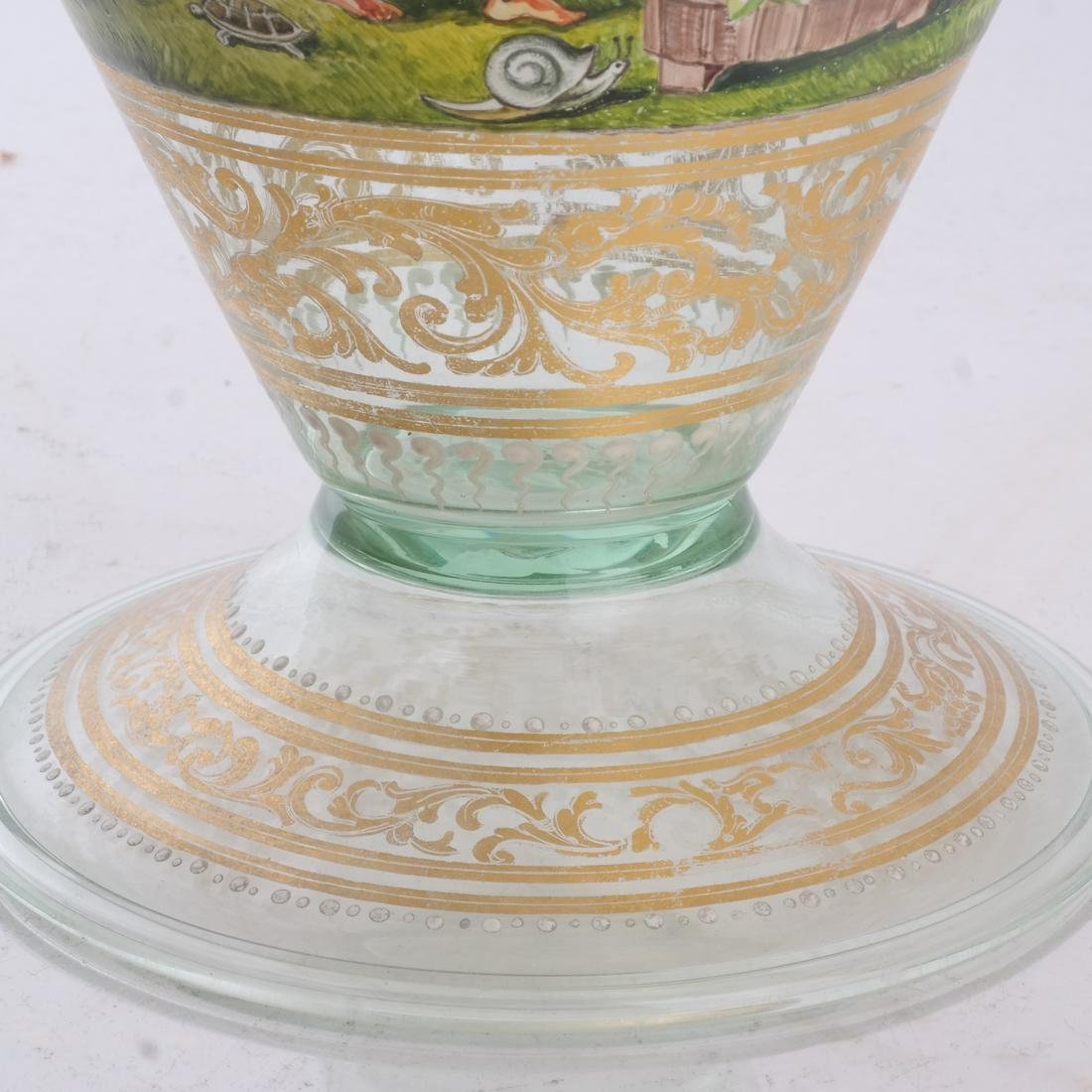 Venetian Overlay Covered Glass Jar - 5