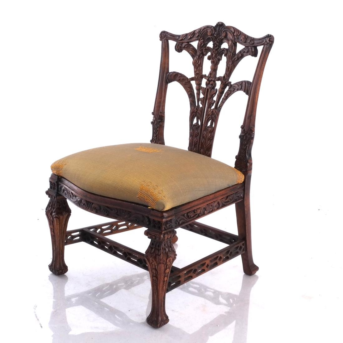 Miniature English Chippendale-Style Side Chair