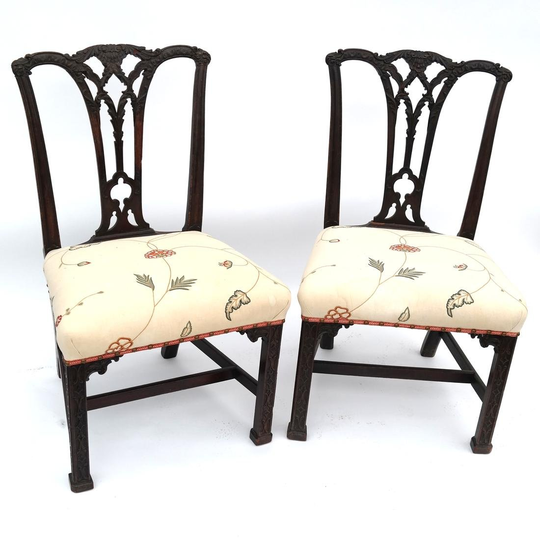 Pair of Antique American Side Chairs