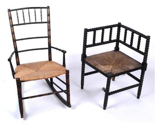 Terrific Antique Rocking Chair And A Corner Chair Dec 15 2018 Download Free Architecture Designs Rallybritishbridgeorg