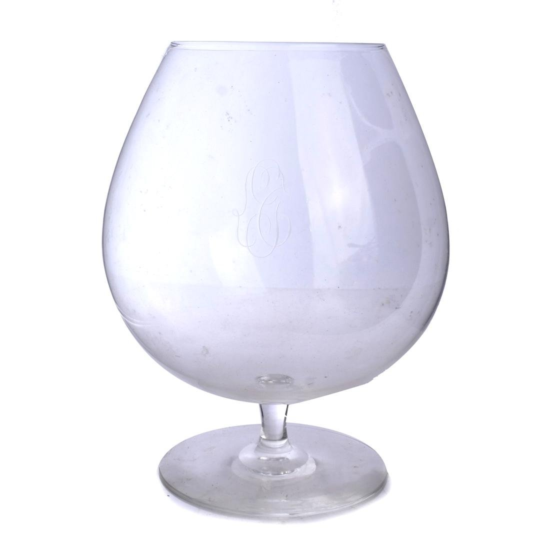 Six Large Crystal Wine Glasses - 3