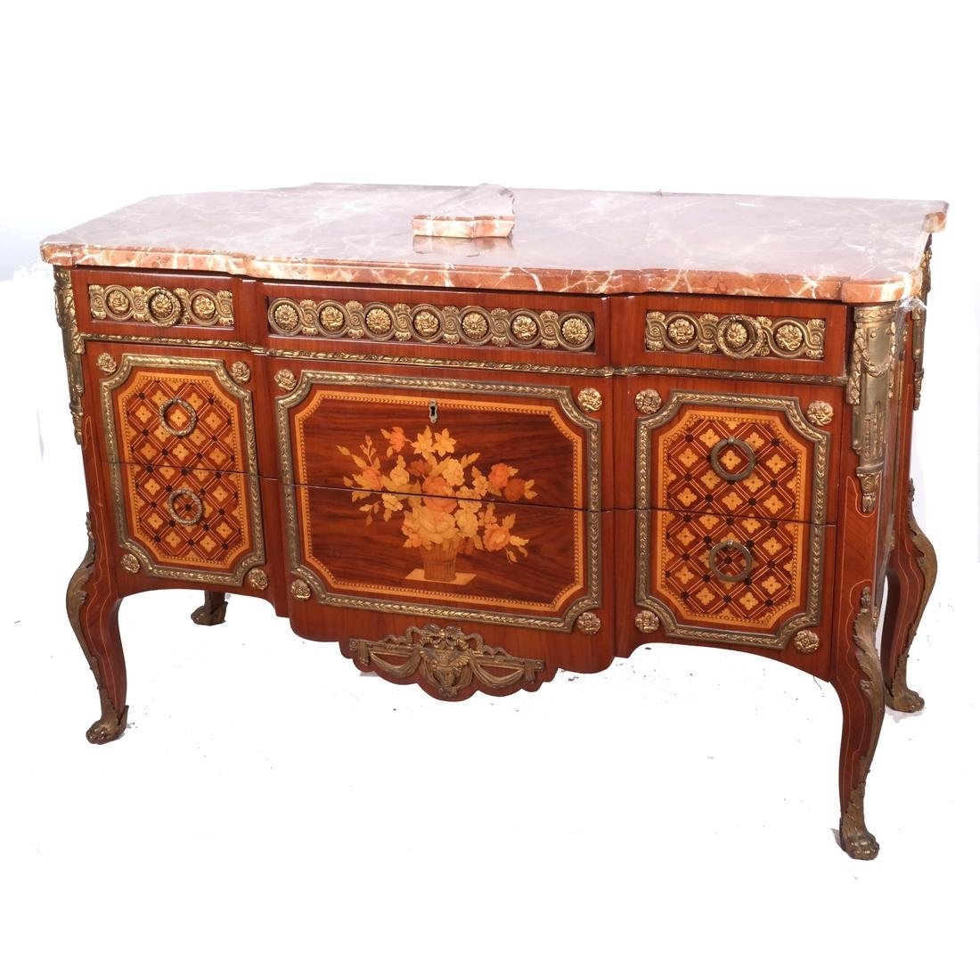 French-Style Marble-Top Commode
