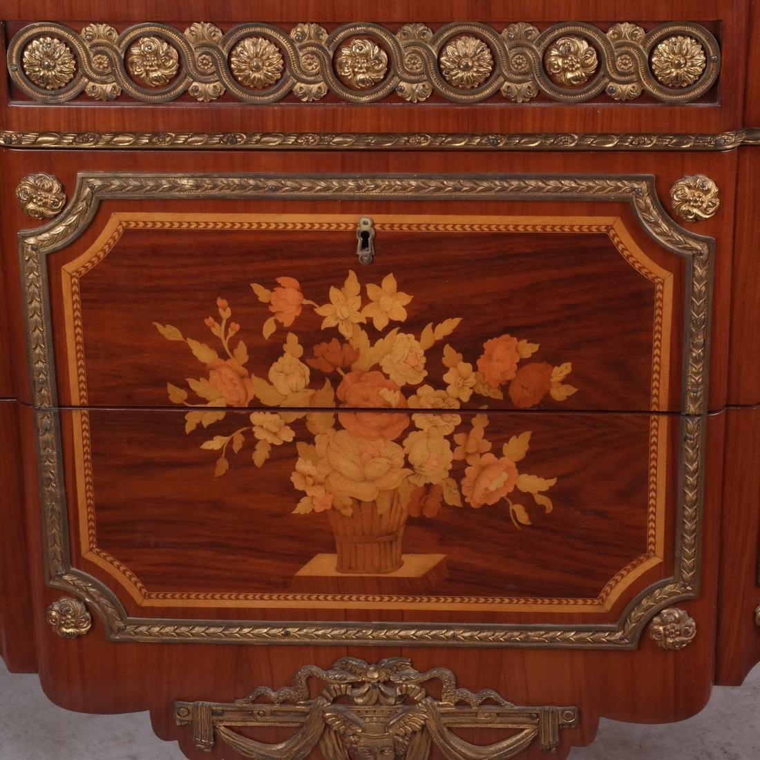 French-Style Marble-Top Commode - 2
