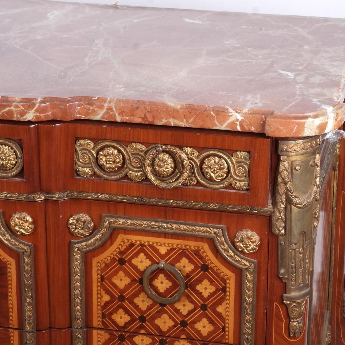 French-Style Marble-Top Commode - 3