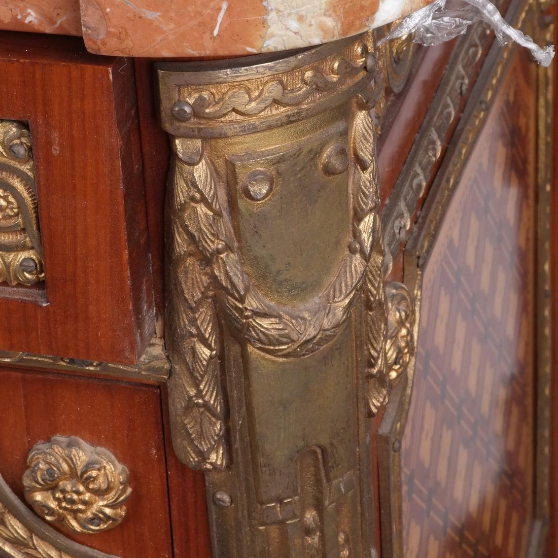 French-Style Marble-Top Commode - 5