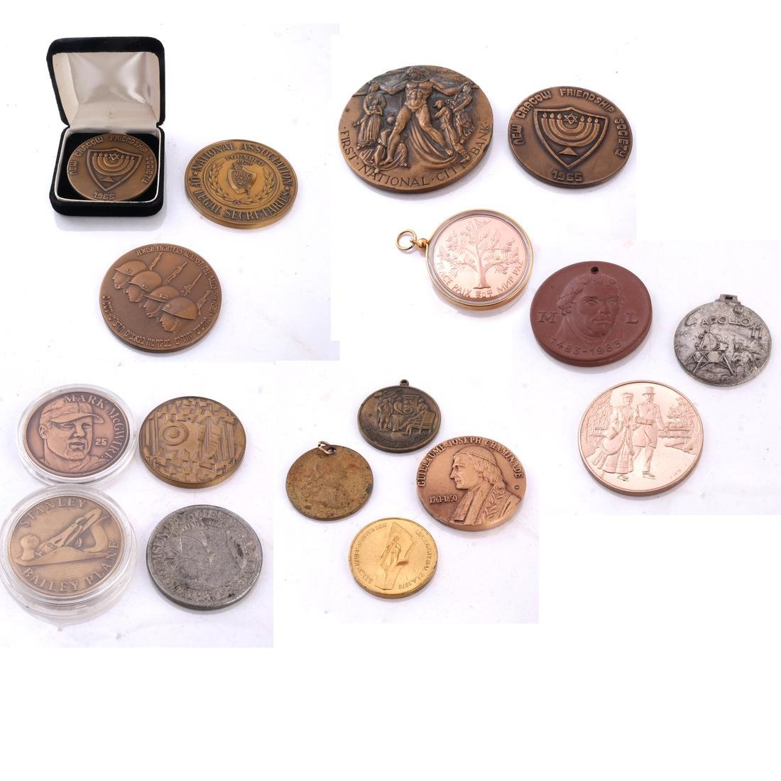 Seventeen Medals, Mostly Copper and Bronze
