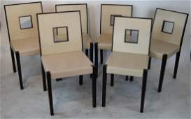 Six Contemporary Dining Chairs