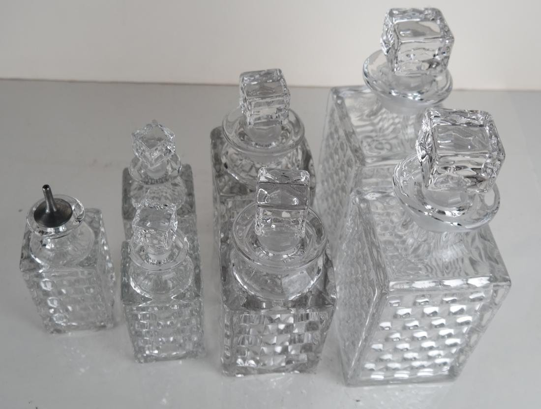 Seven Glass Crystal Decanters - 4