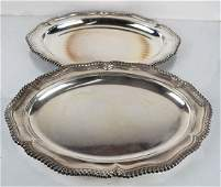 Tiffany  Co Makers Pair of Silver Plate Trays